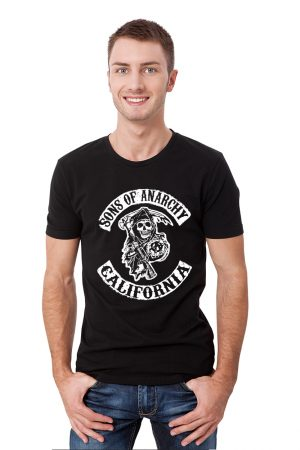 camiseta negra hombre sons of anarchi