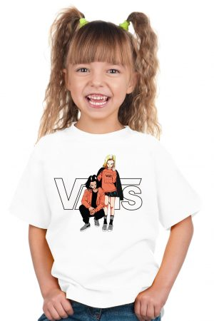 camiseta blanca niña cyborgs dragon ball