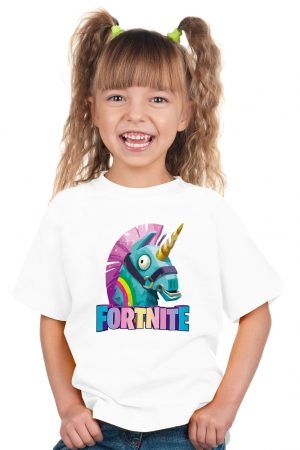 camiseta blanca de niña fortnite 2