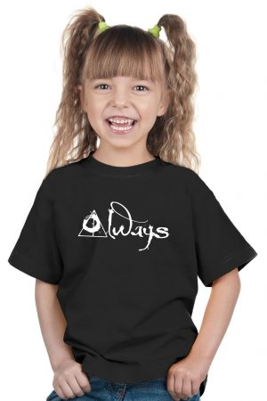 camiseta negra de niña always
