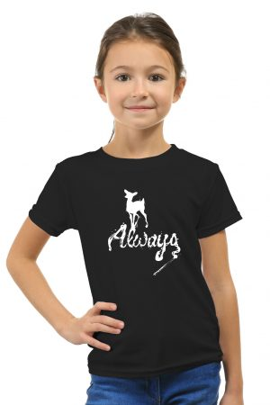 camiseta negra de niña always4
