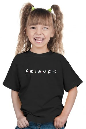 camiseta negra de niña friends