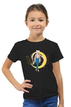 camiseta negra niña de sailor moon