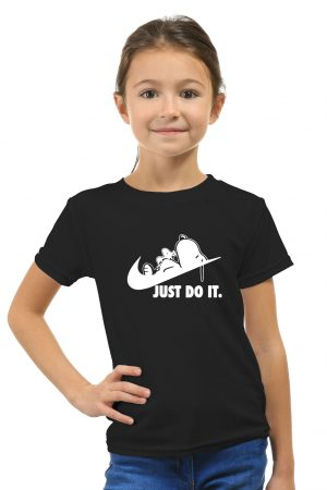 camiseta negra de niña snoopy just do it 1