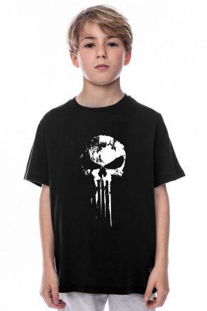 camiseta negra de niño the punisher